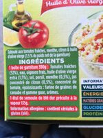 Garbit taboule aux tomates fraiches - Ingrédients