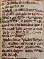 Cassoulet mitonné Bio - Ingrédients - fr