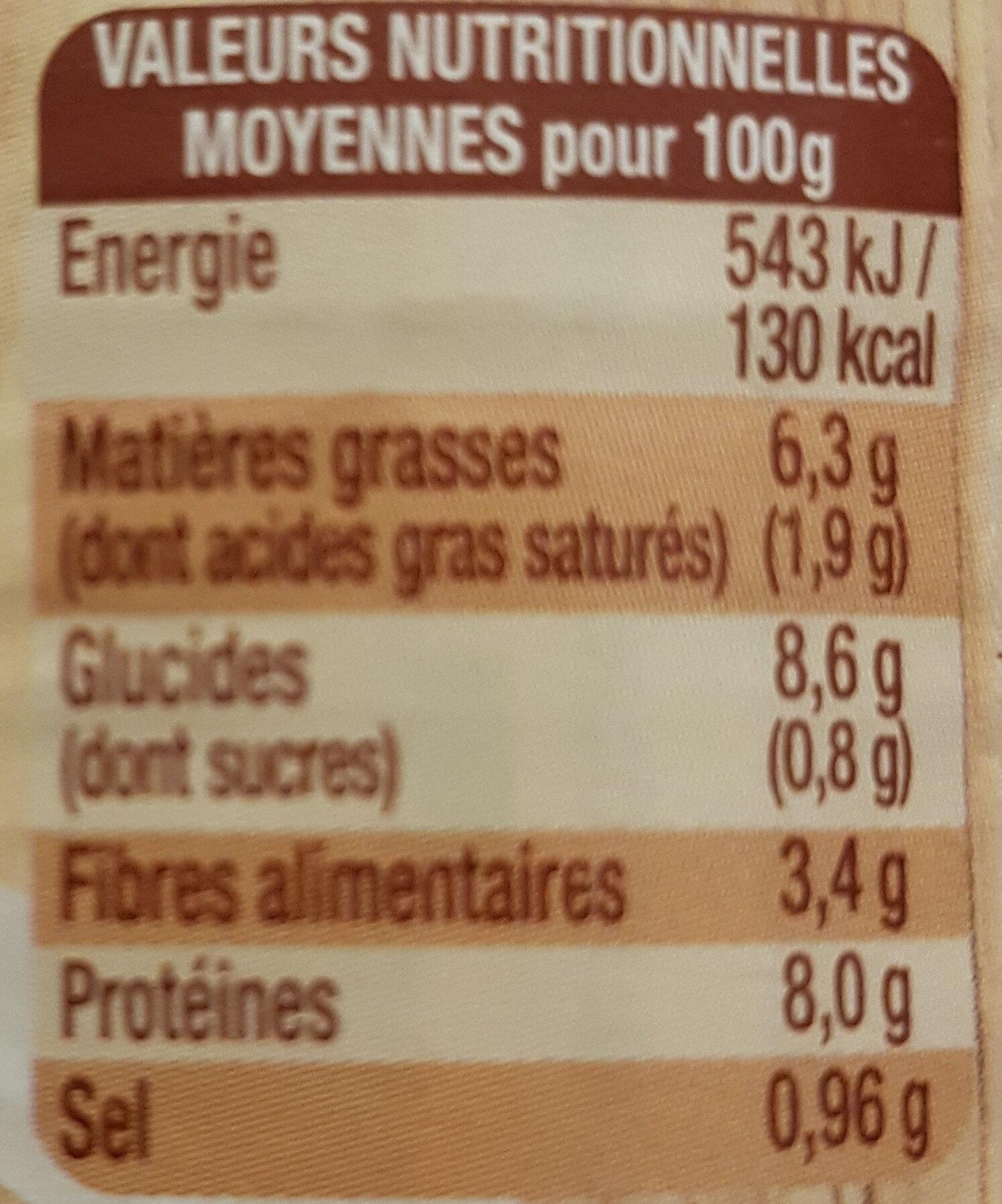 Cassoulet mitonné Bio - Informations nutritionnelles - fr