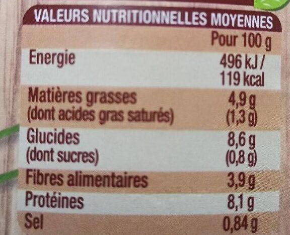 Cassoulet Bio - Voedingswaarden - fr
