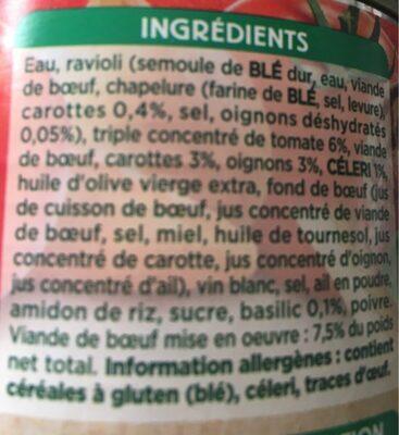 Ravioli à l'ancienne - Ingrédients - fr