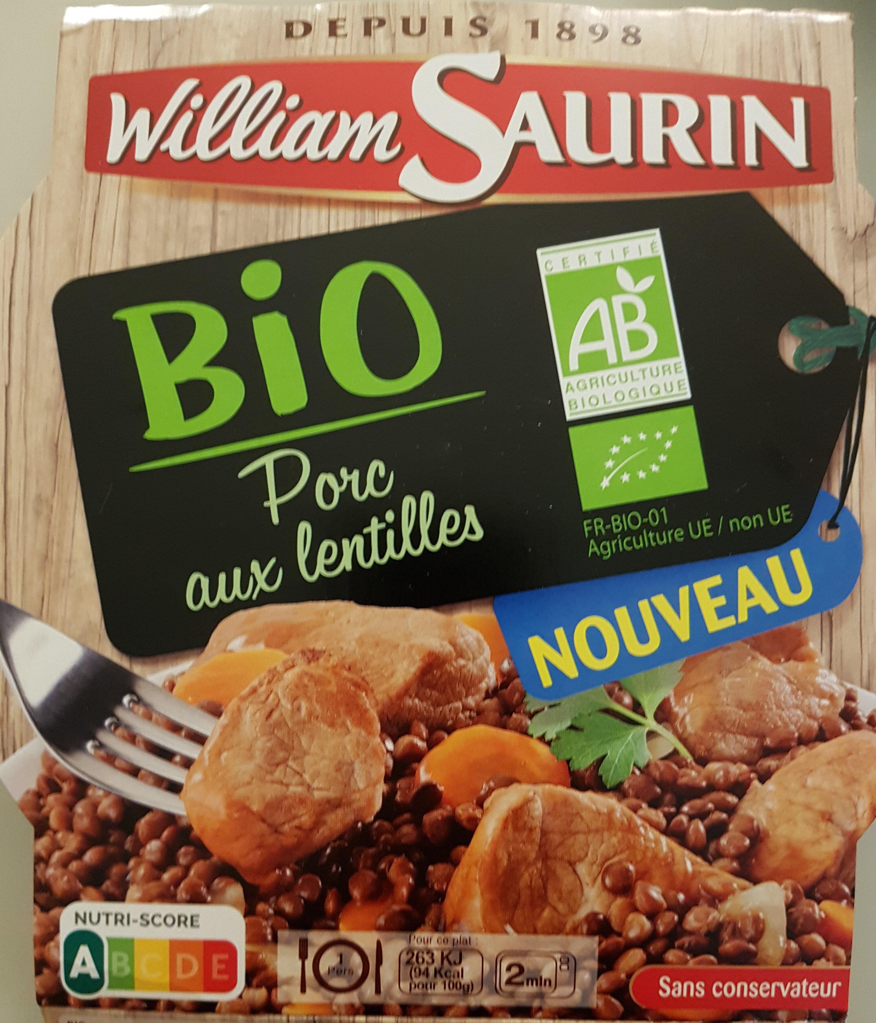 Porc aux lentilles bio - Product - fr