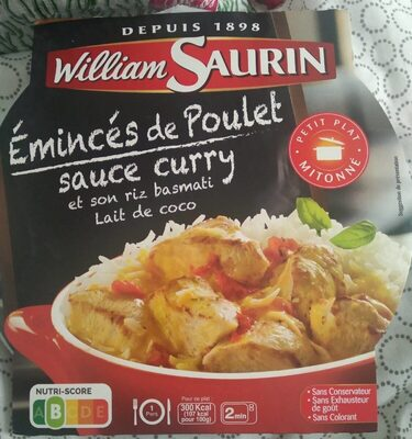 Émincés de poulet sauce curry et son riz basmati lait de coco - Produit - fr