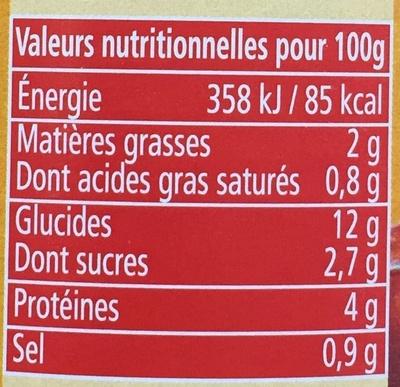 Ravioli (Pur Bœuf) - Voedingswaarden
