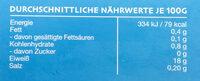 Kaltwasser Wild-Kabeljau - Voedingswaarden - de
