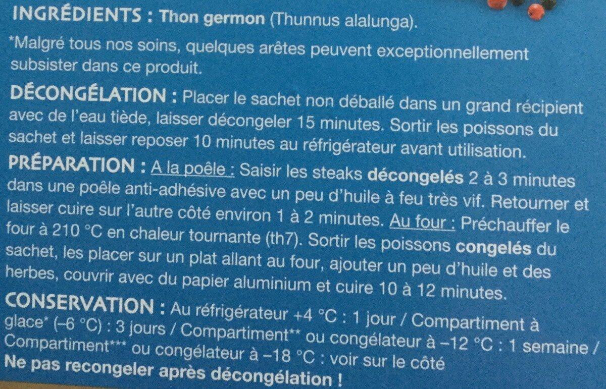 Thon germon pacifique sud - Ingrédients