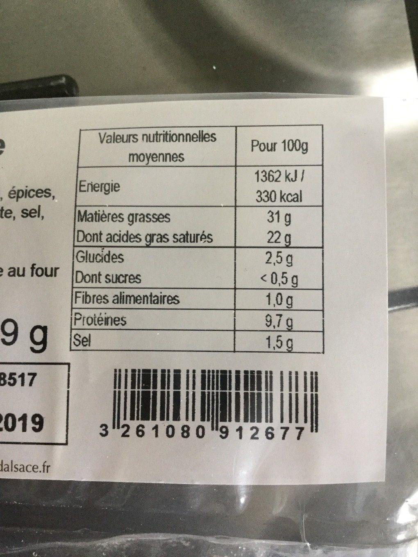 Escargots Préparés - Informations nutritionnelles - fr