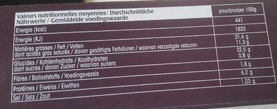 Sticks craquants - Voedingswaarden - fr