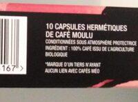 Café méo capsules hermétiques délicatesse x10 - Ingrédients