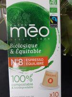 Cafe Meo Robe de Moine - Voedingswaarden - fr