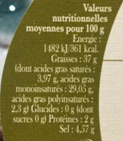 Olives Noires de Nyons - Ingredients - fr