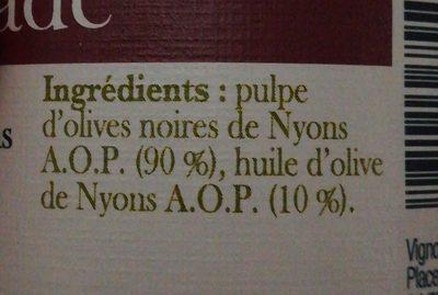 Affinade - Ingrediënten