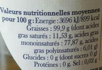 Huile d'olive de France - Ingredienti - fr