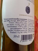Huile d'olive de France - Valori nutrizionali - fr