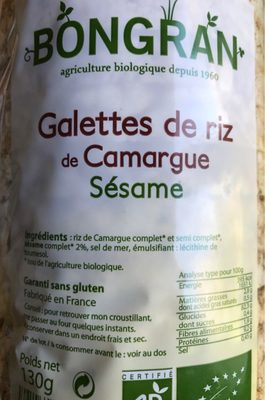 Galette de riz - Produit