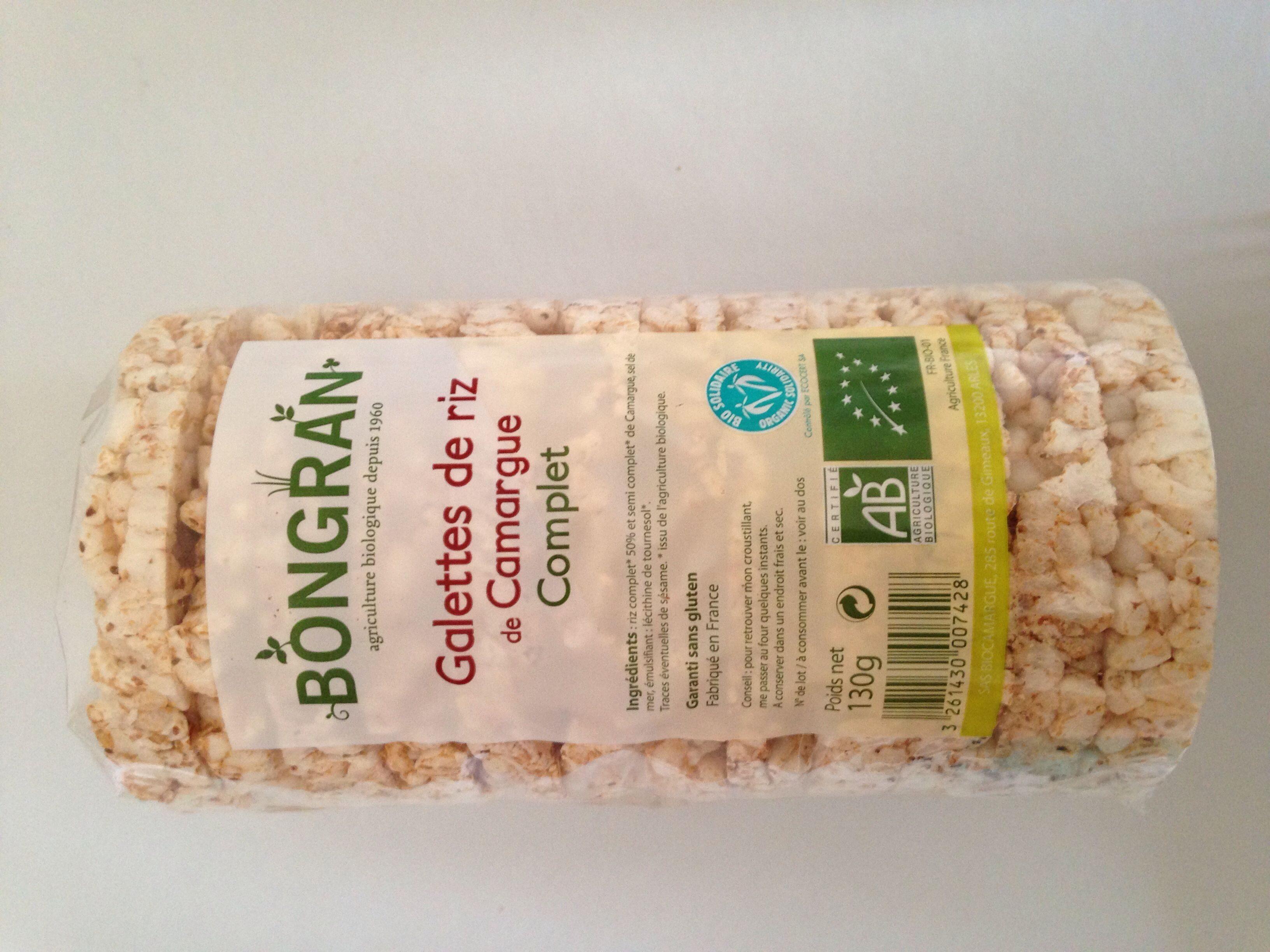 Galettes de riz de Camargue complet - Ingrédients - fr