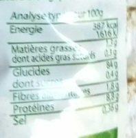 Galettes de riz de Camargue complet - Informations nutritionnelles - fr