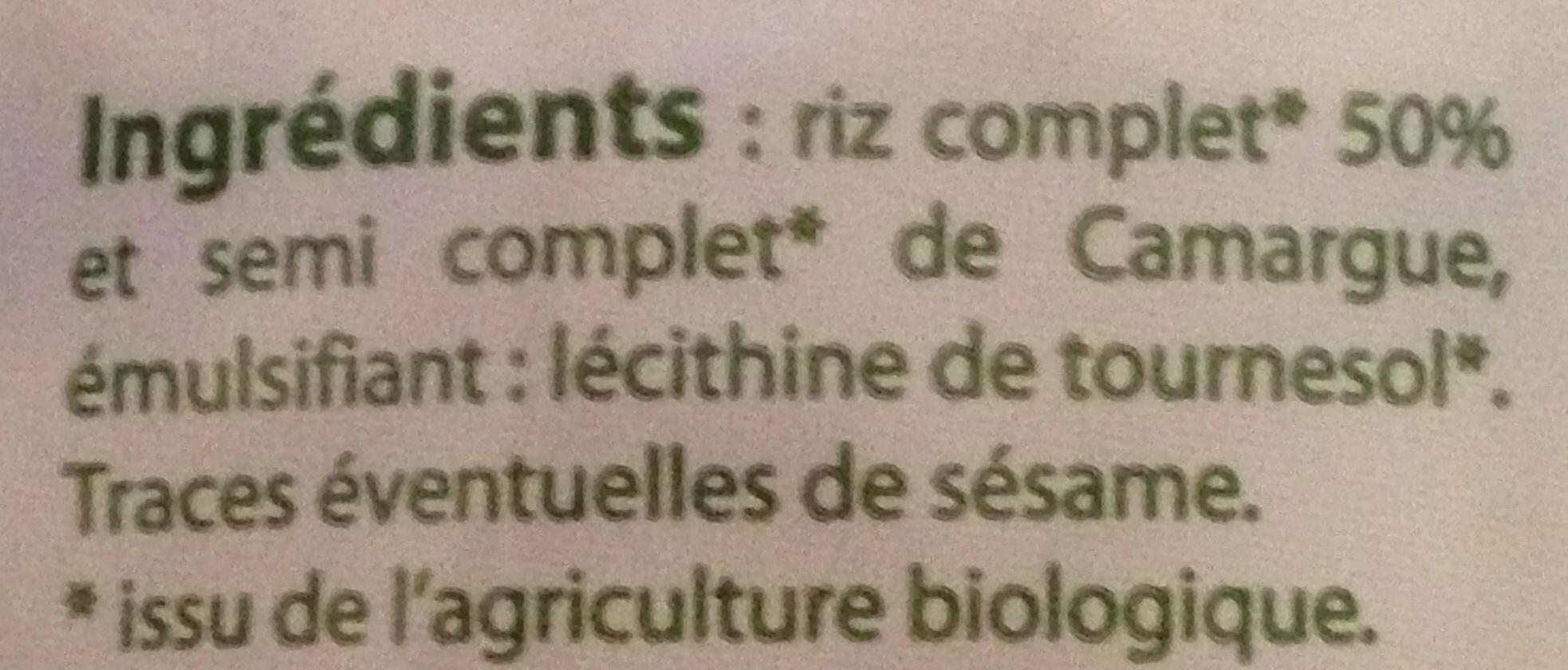 Galettes de riz de Camargue sans sel - Ingrédients - fr