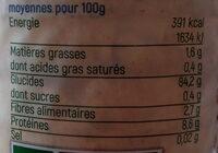 Galettes de riz de Camargue sans sel ajouté - Voedingswaarden - fr