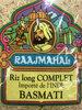 Riz Basmati complet d'Inde RAAJMAHAL - Product