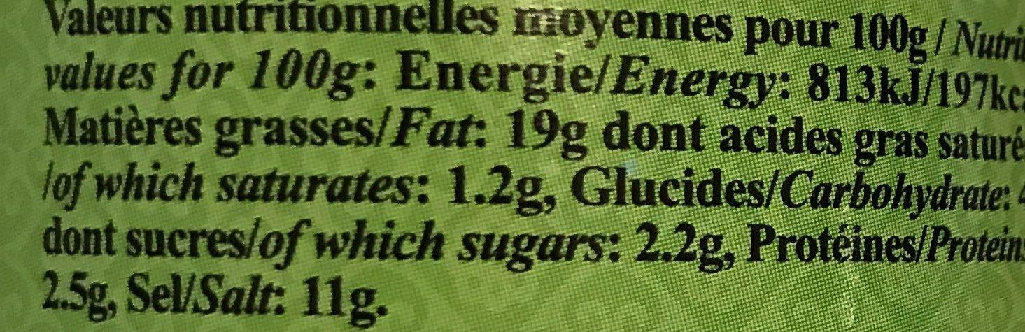 Condiment De Citron Vert - Informations nutritionnelles - fr