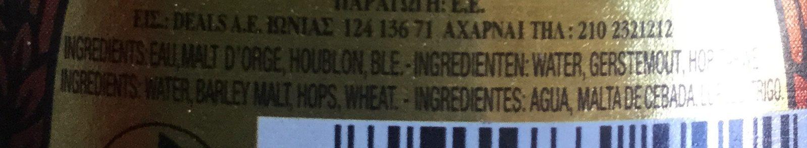 La bière du Démon - Ingredientes - es