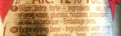 La bière du Démon - Ingrédients
