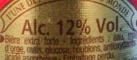 La bière du Démon - Nutrition facts