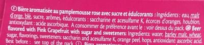 Pamplemousse Rose - Ingrédients