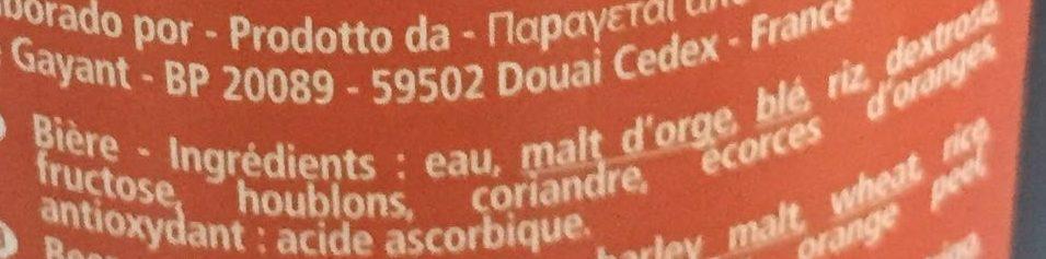 La Goudale Ambrée - Ingredients - fr