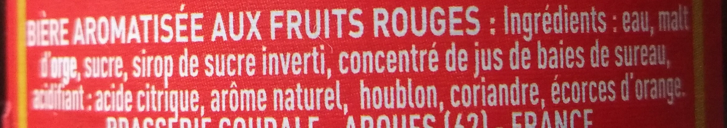 Rubis - Ingredients - fr