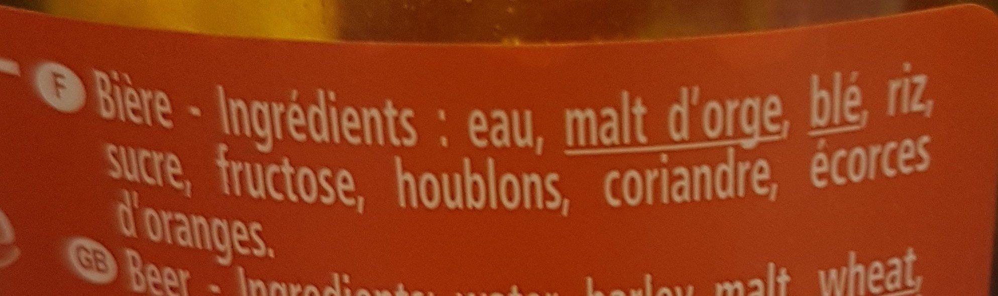 La Goudale ambrée - Ingrédients - fr