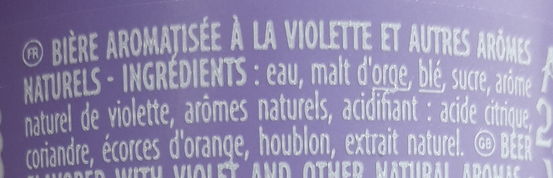 Belzebuth violette - Ingredients - fr