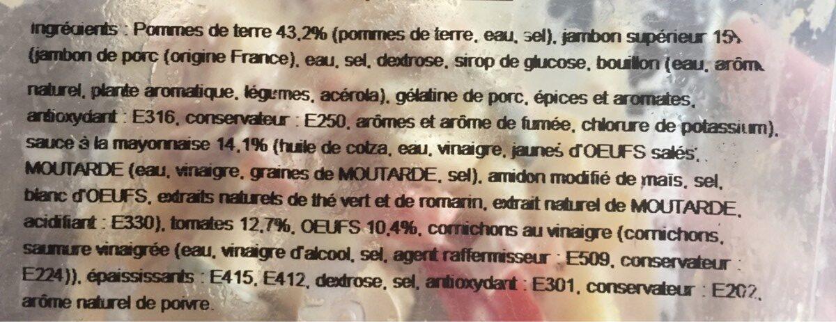 Piemontaise au jambon superieur - Ingrédients - fr