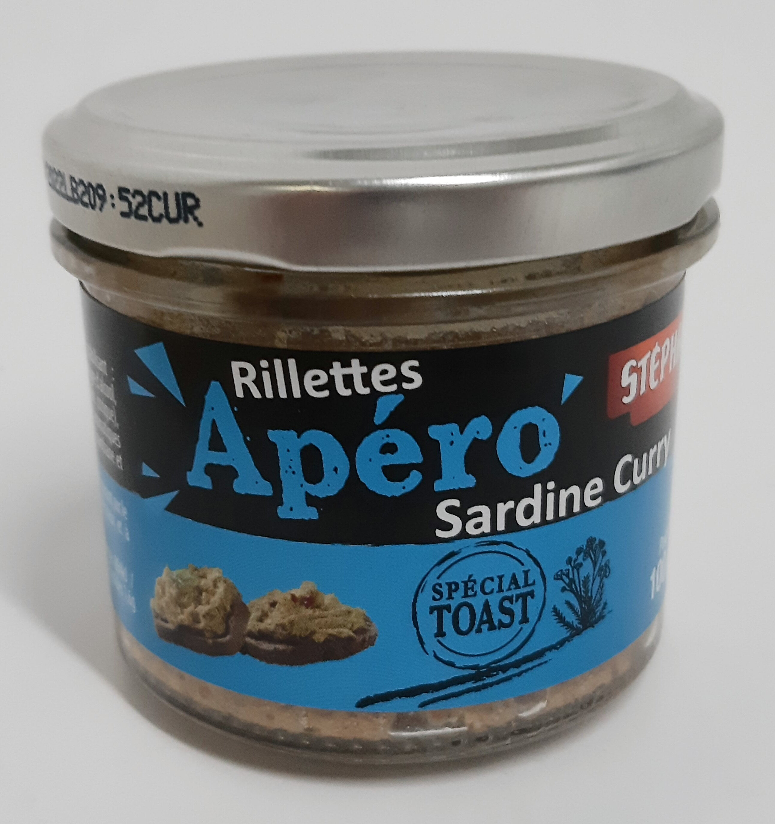 Rillettes Apero Sardine Curry - Produit - fr