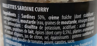Rillettes Apero Sardine Curry - Ingrédients - fr