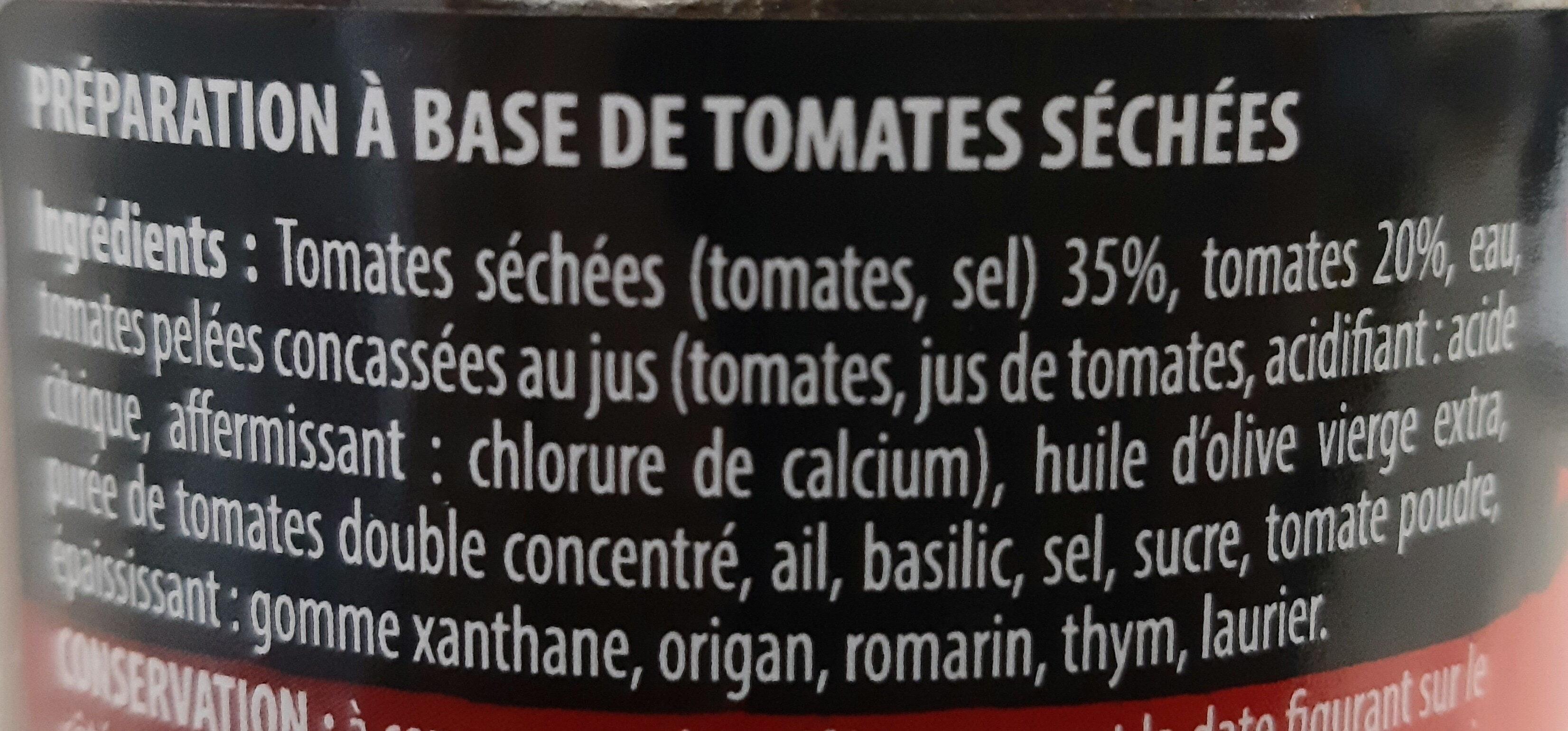 Légumes 'Apéro' tomates séchées - Inhaltsstoffe