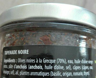 Légumes 'Apéro' Tapenade noire - Inhaltsstoffe - fr