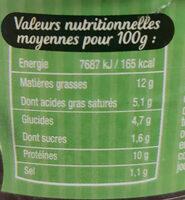 Langue de bœuf sauce piquante - Nutrition facts - fr