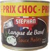 Langue de boeuf sauce Madère - Prodotto