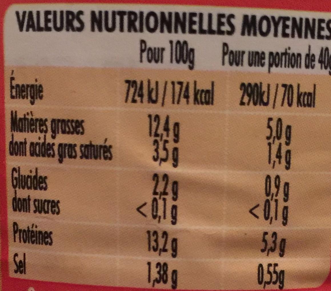 Saucisses Cocktail à la volaille - Informations nutritionnelles - fr