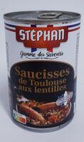Saucisses de Toulouse aux lentilles - Produkt - fr
