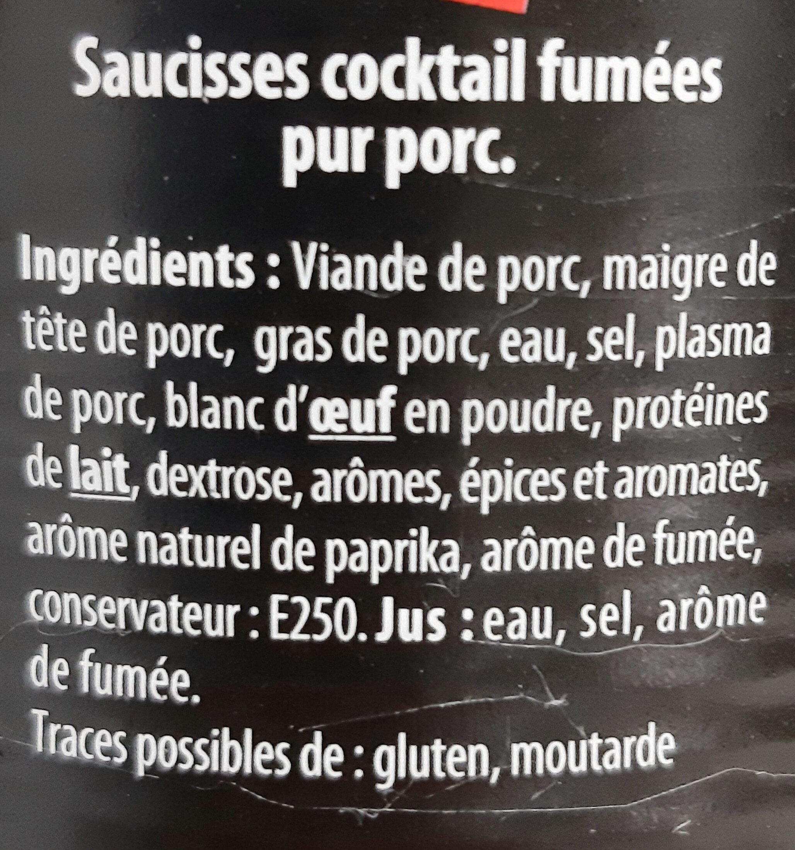 Saucisses Cocktail Apéro Nature - Ingrédients - fr