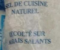 Gros sel marin - Ingrédients - fr