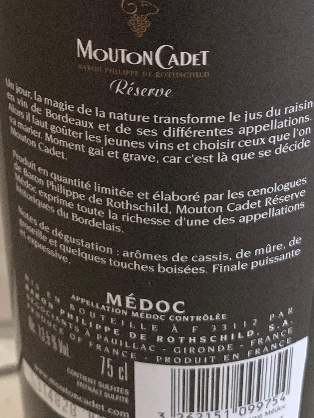 Mouton Cadet Réserve 2016 - Ingredienti - fr