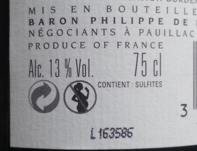 Vin rouge - Nutrition facts