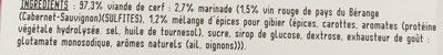 Rôti de Cerf au Vin Rouge - Ingrediënten