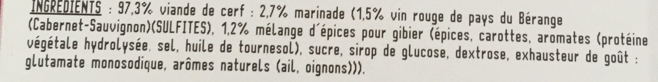 Rôti de Cerf au Vin Rouge - Ingrediënten - fr