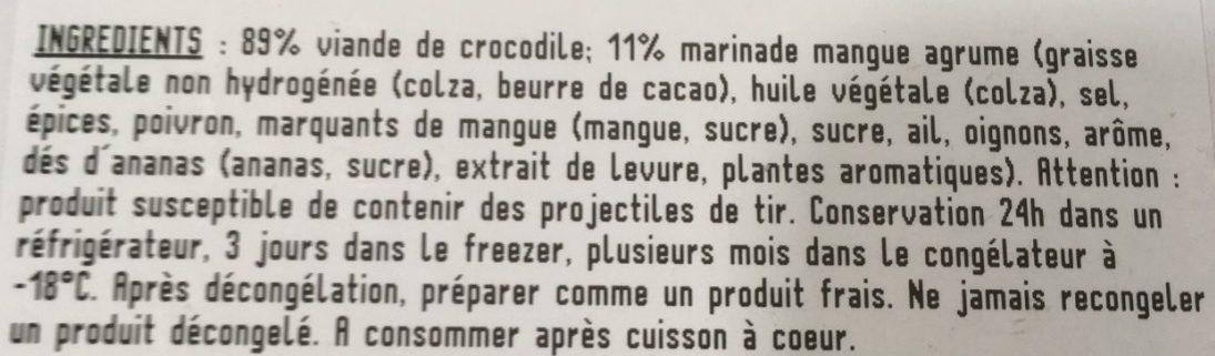 Filet de crocodile à poêler - Ingrédients - fr