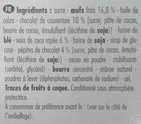 Brownie Chocolat et Coco - Ingredients - fr